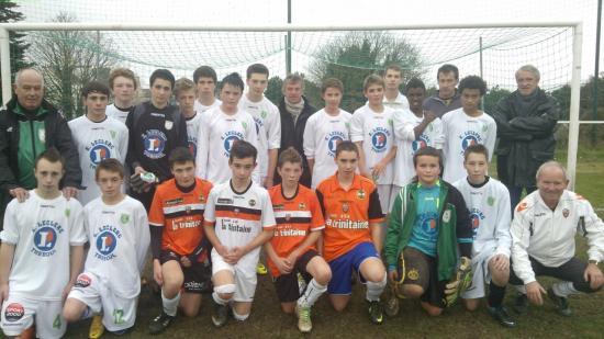U15 avec Christian Gourcuff